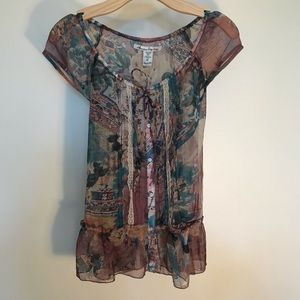 Women's medium American Rag short sleeve blouse